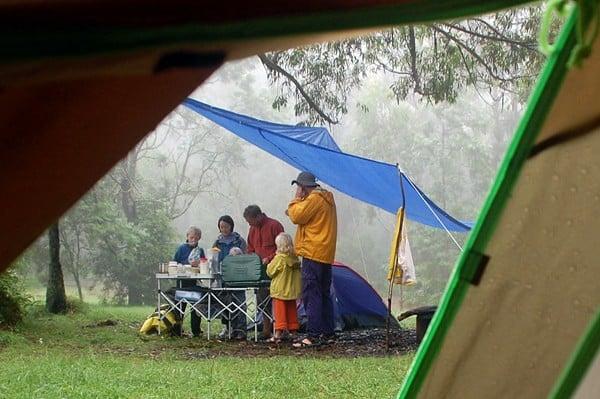 another tarp setup for rain