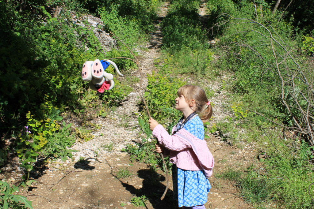 Hiking takes forever when you have to stop and play every 10 feet! ;)