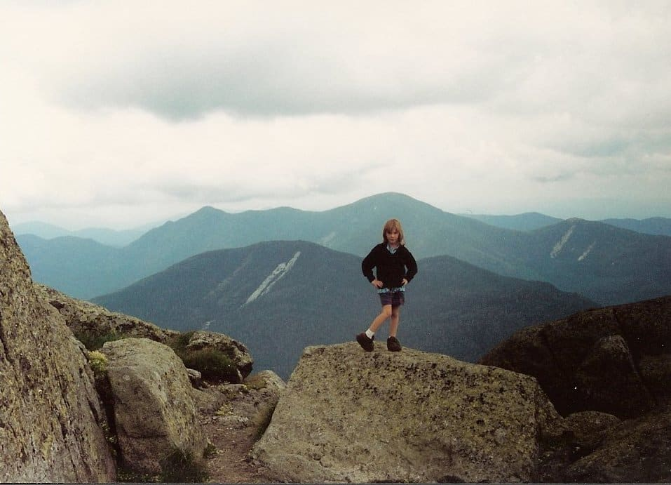 This is me, probably on Mt. Marcy when I was 6