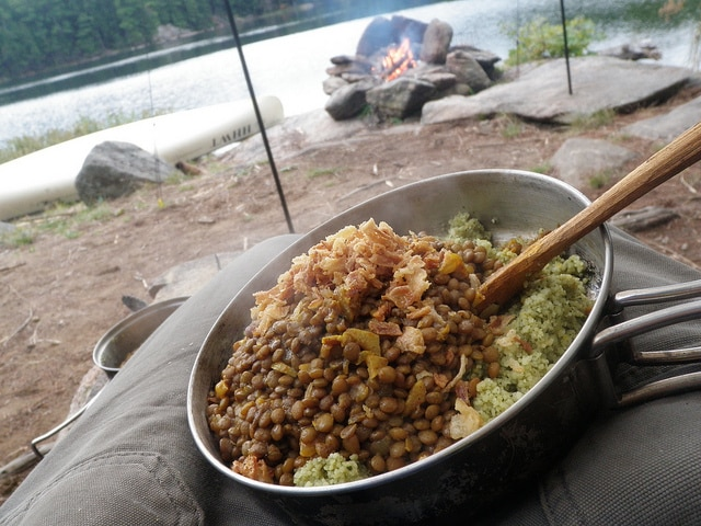 backpacking couscous lentils