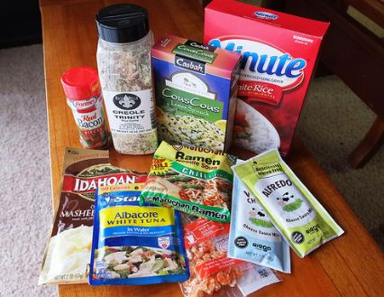 backpacking dry food
