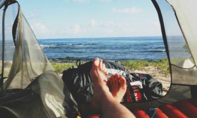 borrowing camping gear
