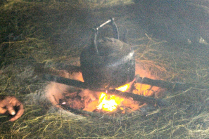 campfire cooking trench