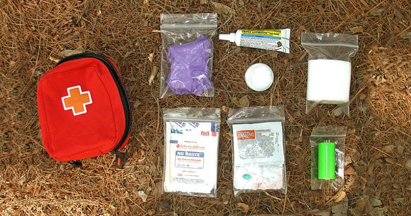 camping first aid kit example