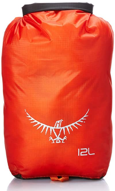This waterproof dry sack by Osprey is the perfect bear bag. Buy it here for $20.