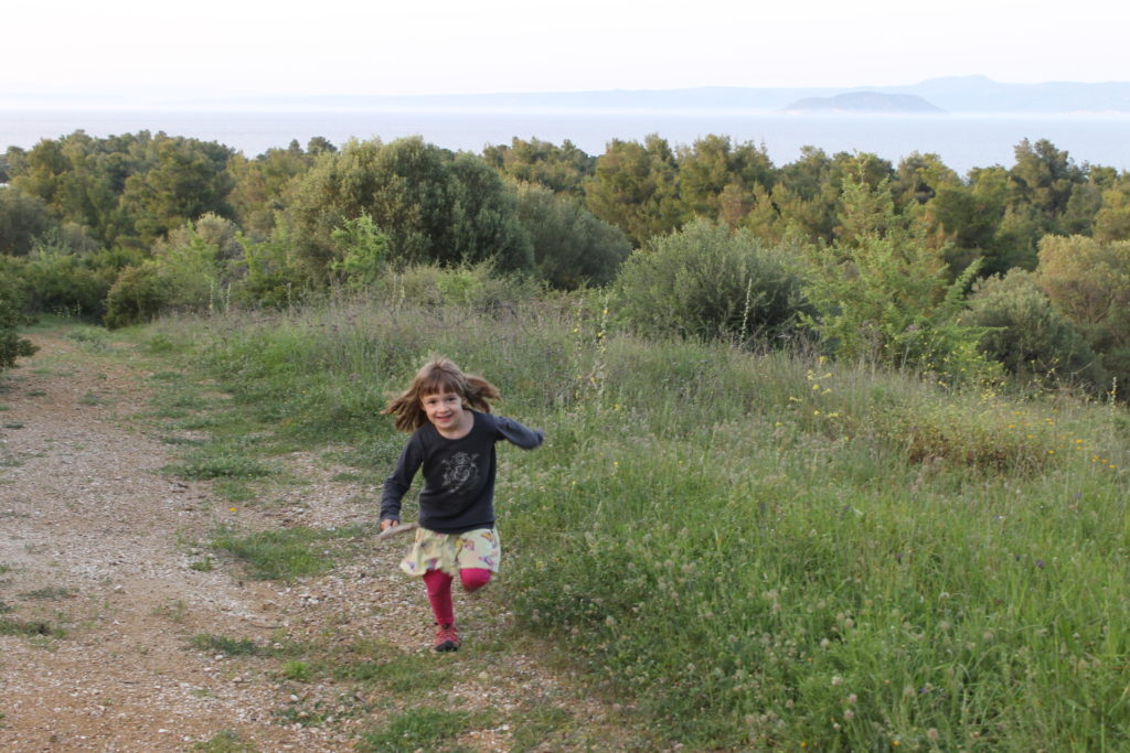 Run!!! You'll love how much hiking tires your kids out. They sleep like babies afterwards :)