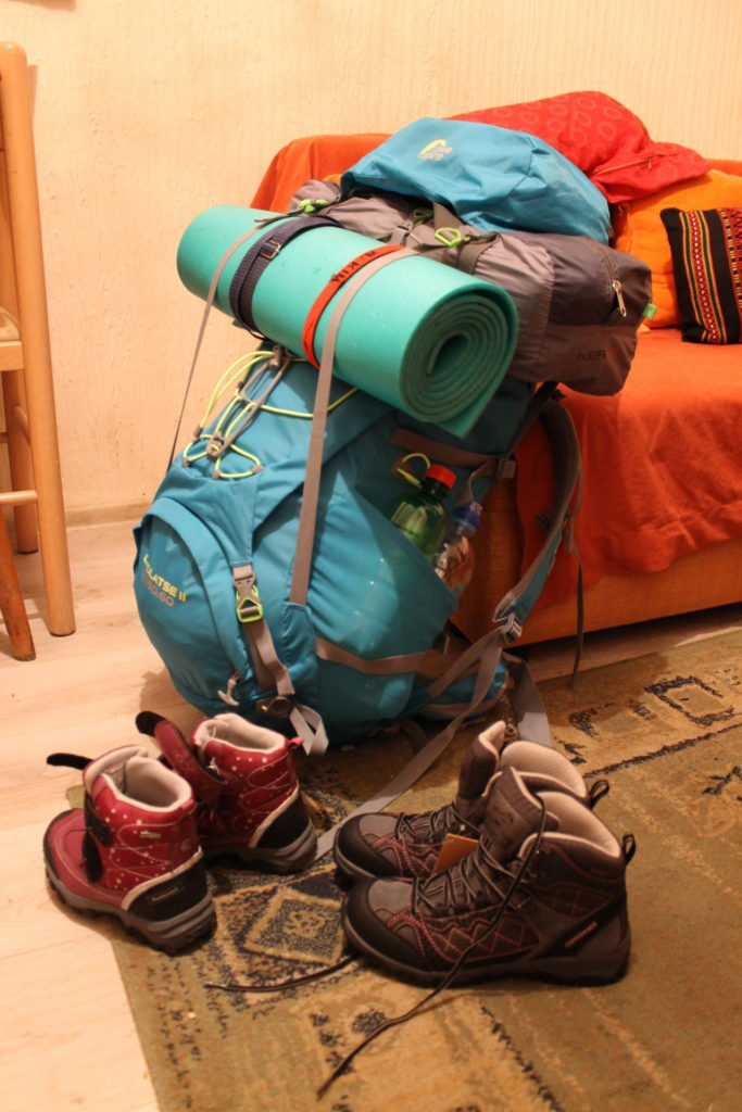 Gear all packed for a 6-day backpacking trip!