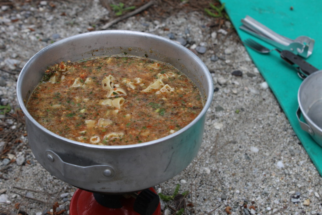 backpacking minestrone soup
