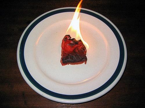 Tea bag dipped in wax makes a great firestarter