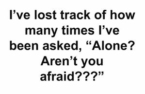 alone afraid