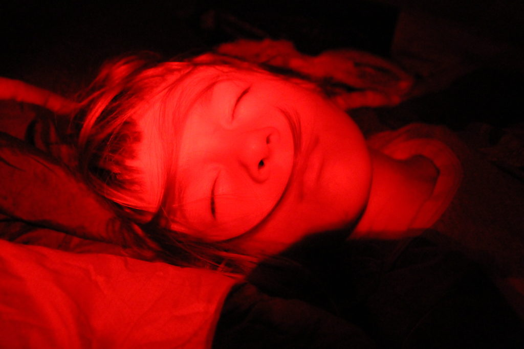 The red light setting is awesome for when you don't want to wake people up in the tent!
