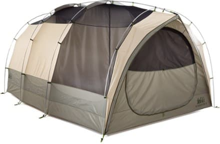 This 8-person tent has 104 sq. feet of floor area