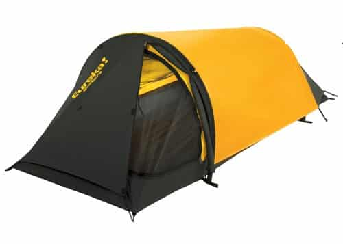 This one-person tent has 21.33 sq. feet of floor area