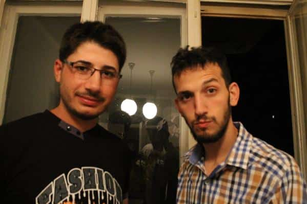 Muhammed (right) was just 26 y.o. and went back to Syria to get his mother and two younger brothers.