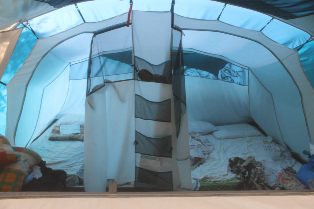 If you don't have your own tent, you can pay to sleep in their tent