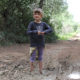 Picture of my daughter dirty in mud