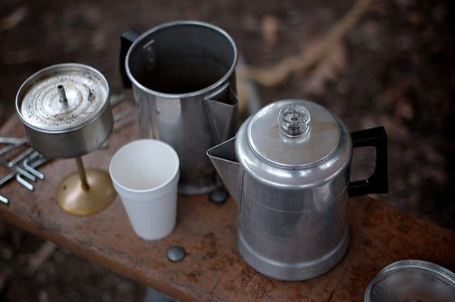 Here are the parts of a percolator