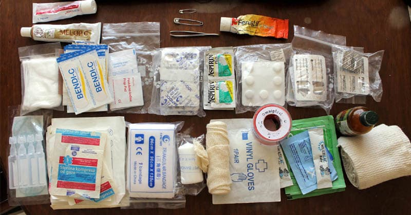 travel first aid kit list