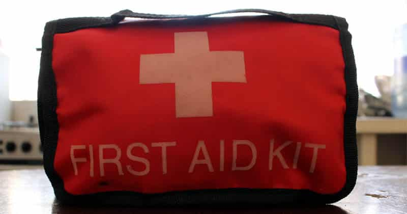 My first aid kit, packed