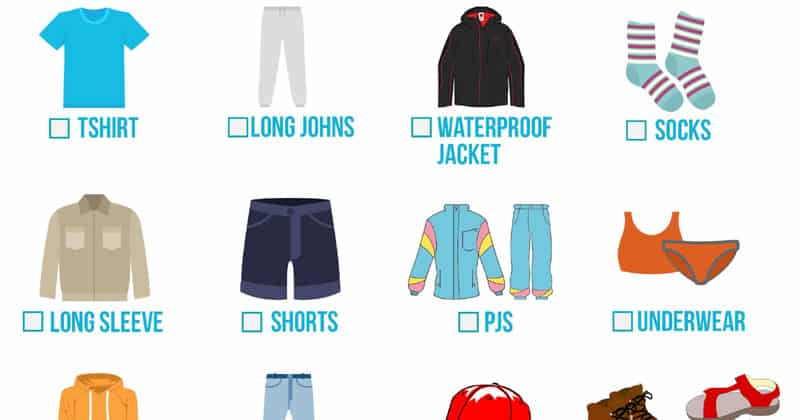 backpacking clothes checklist 2 season mom goes camping