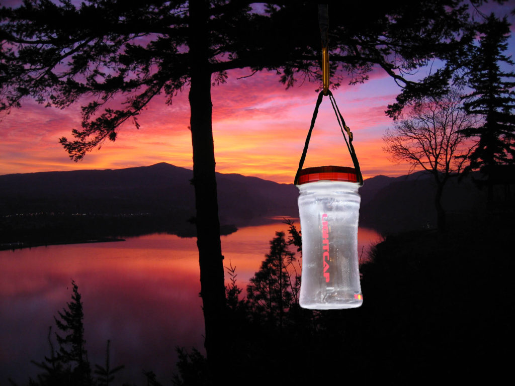 lightcap solar powered water bottle lamp