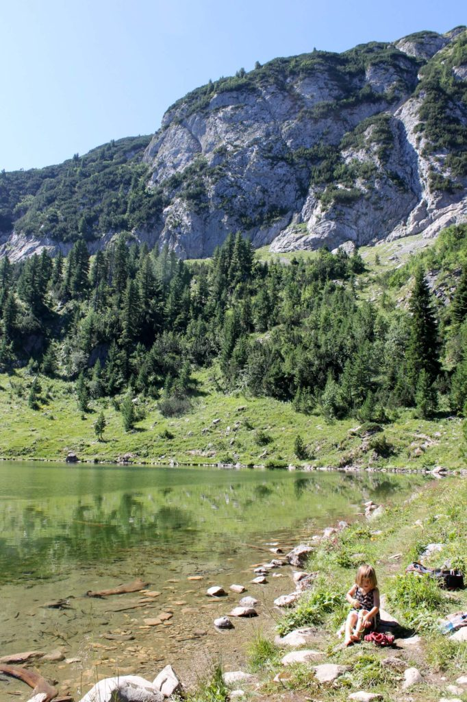 camping at leqinat lake in rugova gorge near peja in kosovo