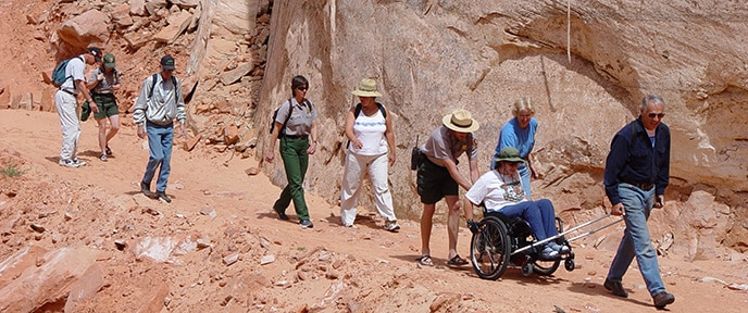 wheelchair trail in national park
