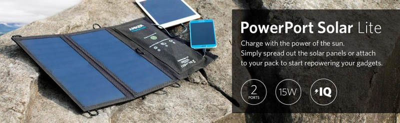 Anker PowerPort portable solar charger for outdoor use