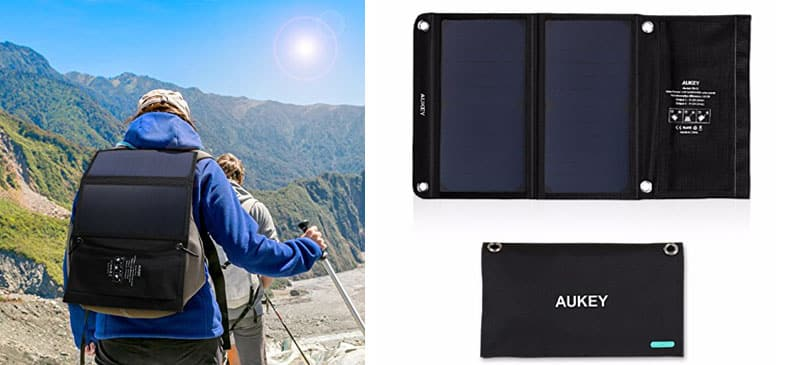 aukey portable solar charger
