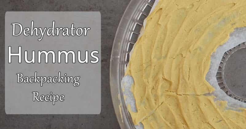 dehydrator hummus backpacking recipe