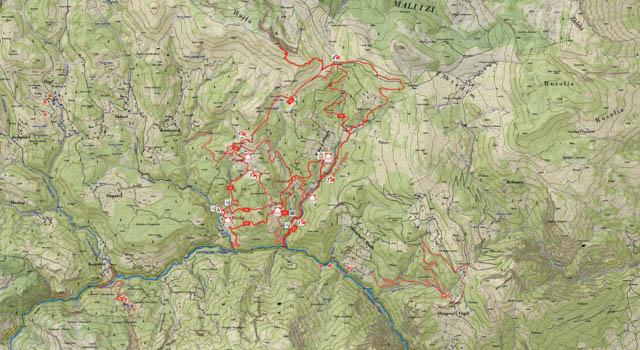 Rugova trail map
