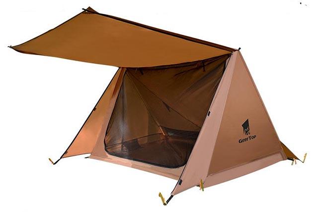 Geertop 2P pyramid trekking pole tent