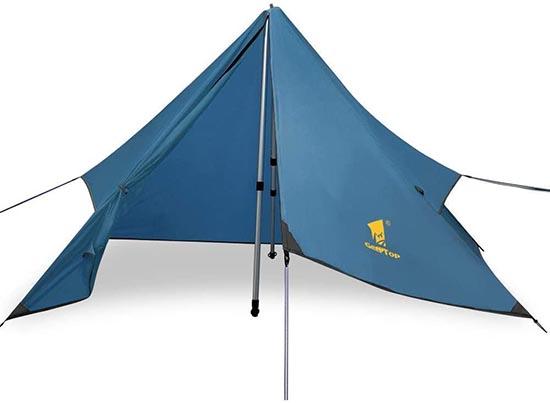 geertop 1P pyramid trekking pole tent fly