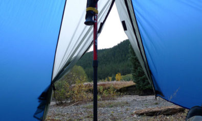 trekking pole tents
