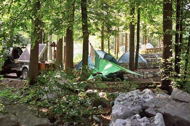Pivka Jama campground Slovenia
