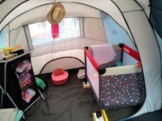 Pack n Play for camping with a baby