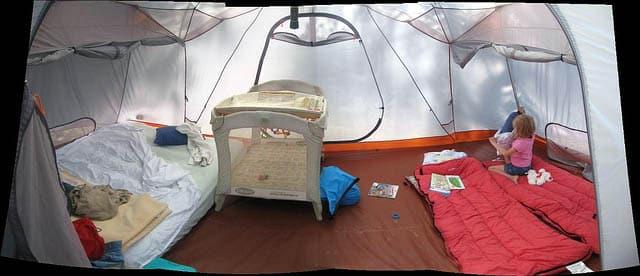 summer family camp setup