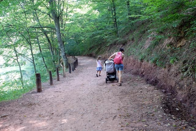 stroller hiking with baby
