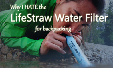 why I hate the lifestraw for backpacking