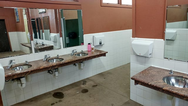 bathroom in campground
