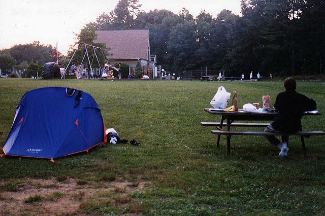 crowded campground