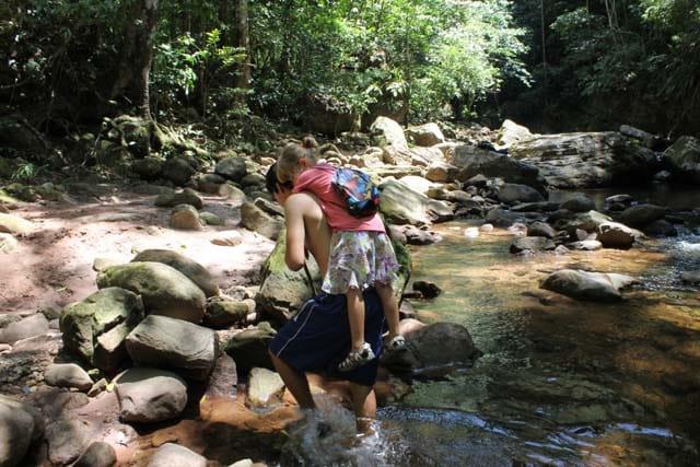 hiking in the jungles of Peru