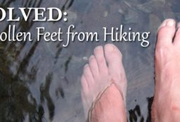 swelling feet hiking