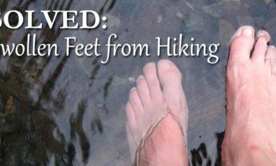 swelling feet hiking