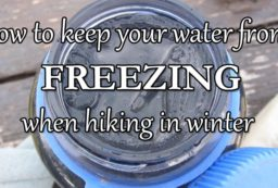water bottles insulators for winter hiking