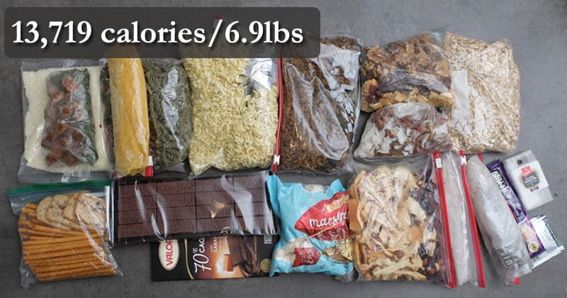 How Much Food To Bring Backpacking Simple Method Advanced Calorie