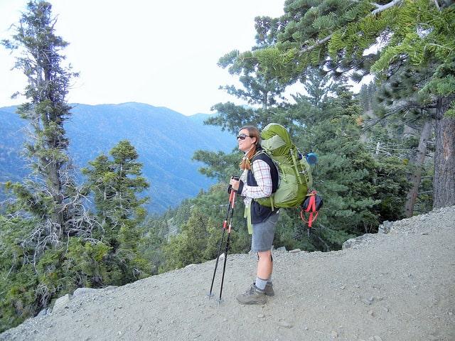 trekking poles on PCT