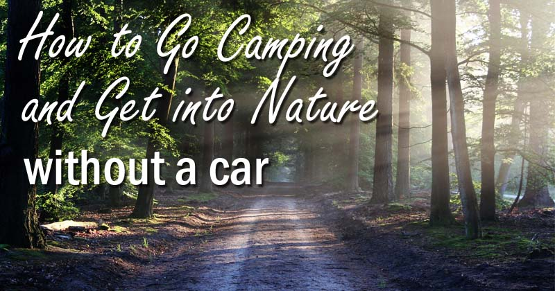 camping without a car
