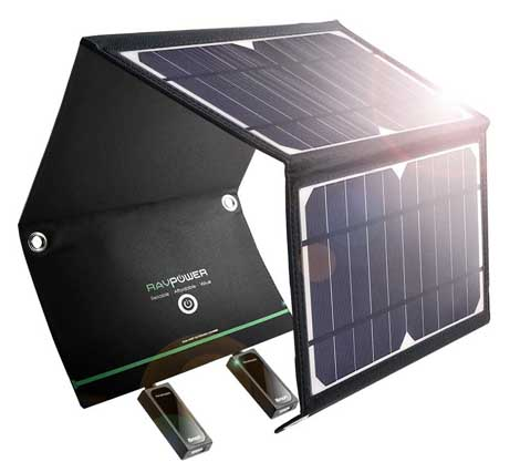 Ravpower solar charger for backpacking