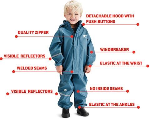 celavi two piece toddler rain suit
